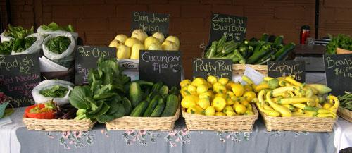 ...plus cucumbers & various summer squash