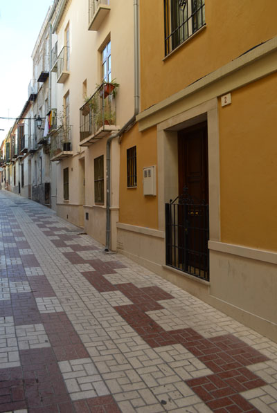 The walkway to our B&B in Malaga, Spain. El Riad was wonderful.